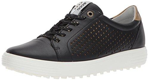ECCO Women's Casual Hybrid Perforated Golf-Shoe, Black 38 EU/7-7.5 M US