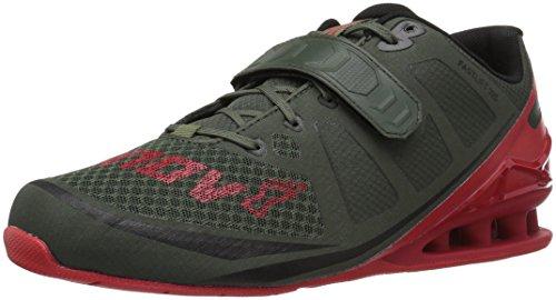 Inov-8 Men's Fastlift 325 Cross-Trainer Shoe, Dark Green/Red, 12.5 E US