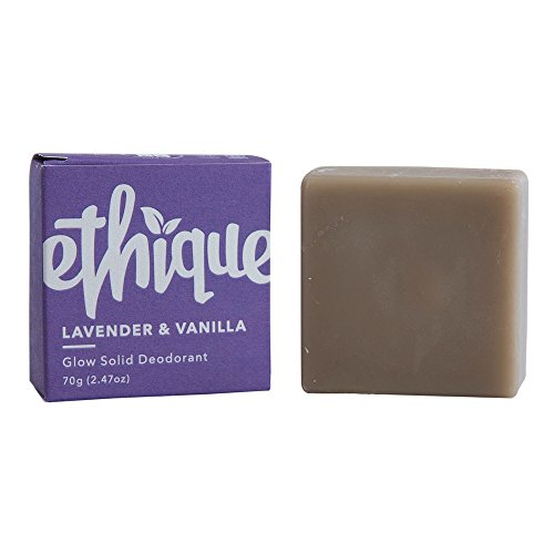 Eco Friendly Deodorant - Ethique Eco-Friendly Glow-Solid Deodorant, Lavender & Vanilla 2.47 oz