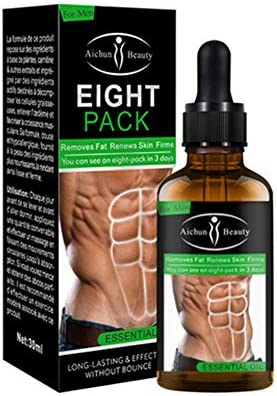 Leistungsstarke Bauchmuskulatur ätherisches Öl 30 ML Männer Stärkerer Muskel-Acht-Packungscreme Anti Cellulite Fettverbrennung Gewichtsverlust Für Männer Körperfett Reduzierendes Gel
