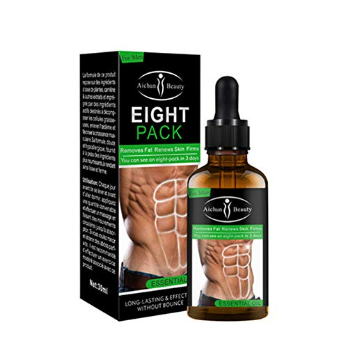 Powerful Abdominal Muscle Essential Oil 30ML Men Stronger Muscle Eight Pack Cream Anti Cellulite Fat Burning Weight Loss For Men Body Fat Reducing Gel