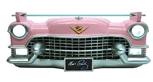3D Shelf - Elvis Pink Cadillac Front with Tempered Glass