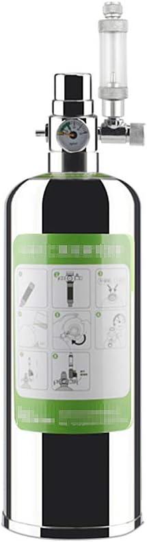 2L Doble Kit de Sistema de generador de CO2 de Acuario, Sistema de generador de Cilindro de Acero Inoxidable de CO2, Kit de Reactor de dióxido de Carbono para Plantas de Acuario