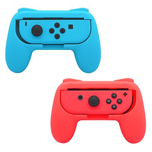 FastSnail Grips compatible with Nintendo Switch Joy Cons, Wear-resistant Handle, 2 Pack...
