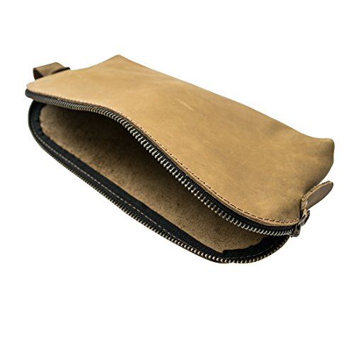 Large All Purpose Utility Bag (Cords, Chargers, Tools, School/Office Supplies) mano Made by Hide & Drink:: Cafe con leche