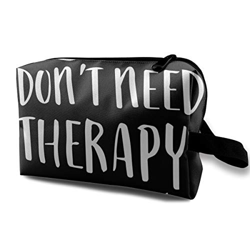 I Don't Need Therapy I Just Need To Go Camping Toiletry Bag Women Travel Makeup Train Case Organizer - Multifunction Travel Bag Pen Bag Pouch, Luggage Pouch for Cosmetics Pen Eyeliner Travel Cash
