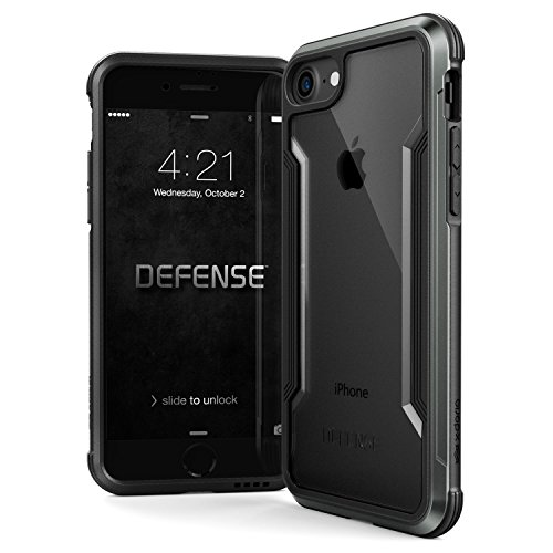 iPhone 8 & iPhone 7 Case, X-Doria Defense Shield Series - Military Grade Drop Tested, Anodized Aluminum, TPU, and Polycarbonate Protective Case for Apple iPhone 8 & 7, - Case Anodized