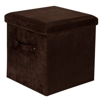 Yu Shan Storage Ottoman with Seat Pad - Brown Brown by flora home
