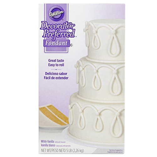Wilton Decorator Preferred White Fondant, 5 (Satin Ice Rolled Fondant)