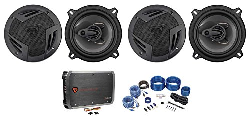 "Rockville RV5.3A 5.25"" 1200w 3-Way Car Speakers+4-Channel A"