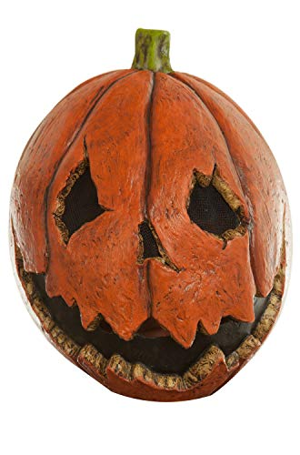 Adult Scary Last Night Pumpkin Halloween Mask Orange