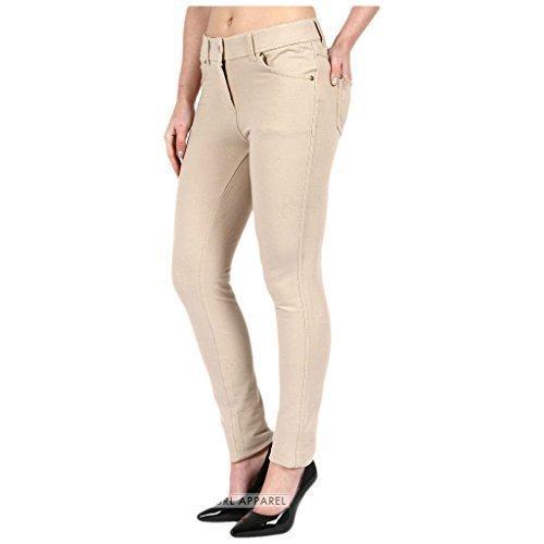 lastique grande skinny Curvy 8 clair fermeture slim uni 18 habill pantalon disponible taille Beige color coupe 26 Femmes FASHIONCHIC couleurs jeggings SwO1EqX4