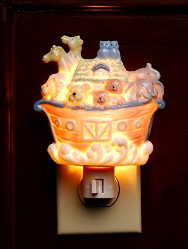 Cosmos Gifts 5653 Noah's Ark Plug In Night Light
