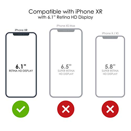 """Latest DistinctInk Clear Shockproof Hybrid Case for iPhone XR (6.1"""" Screen) - TPU Bumper, Acrylic Back, Tempered Glass Screen Protector - Repeating Bumble Bees orange iphone xr case 9"""