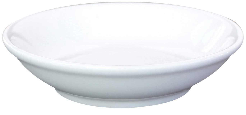Ceramic Side Sauce Dish and Pan Scraper, 3.75 Inch, 3 Ounce, Bone White, 12-Pack