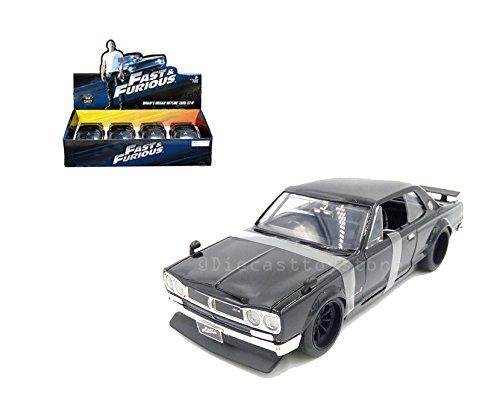 Jada 99793 ダイカスト玩具 車 1:24 速くて激しいブライアン 1971 日産スカイライン GT-R ブラックカラー 1点 小売りボックスなし B079TJK62J