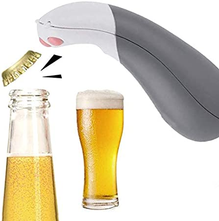 NaiCasy Cerveza Sacacorchos Uña de Gato Lindo Sacacorchos portátil Botella de Cerveza de Cristal Gris
