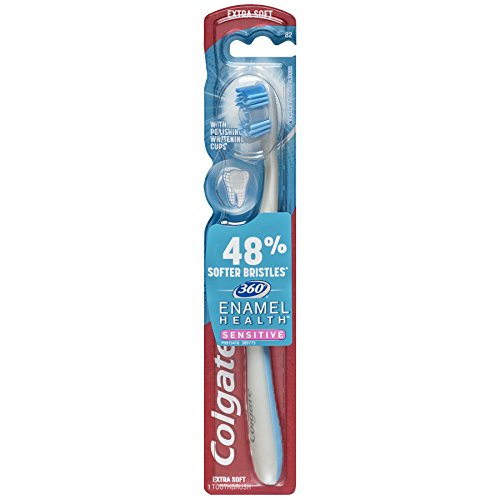 Price comparison product image Colgate 360 Enamel Health Extra Soft Toothbrush for Sensitive Teeth