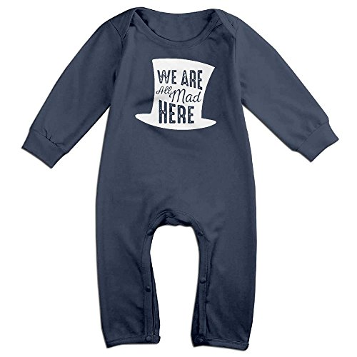 Costume National Riding Boots (NiuNiu We Are All Mad Here Toddler Infant Baby Long Sleeve Bodysuit Baby OnesieOutfits Jumpsuit For 0-24 Months Navy 12 Months)