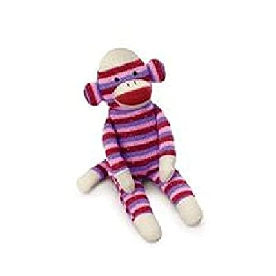 Russ Berrie Striped Sock Monkey Plush: Toys & Games