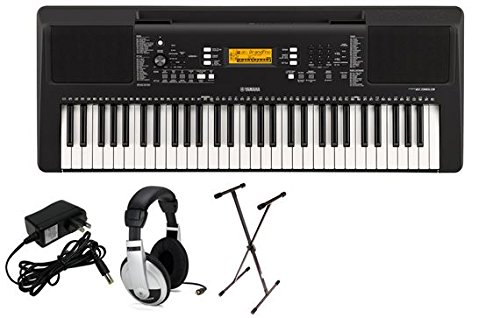 Yamaha PSRE363 Premium Keyboard Package with YXKS Stand by YAMAHA