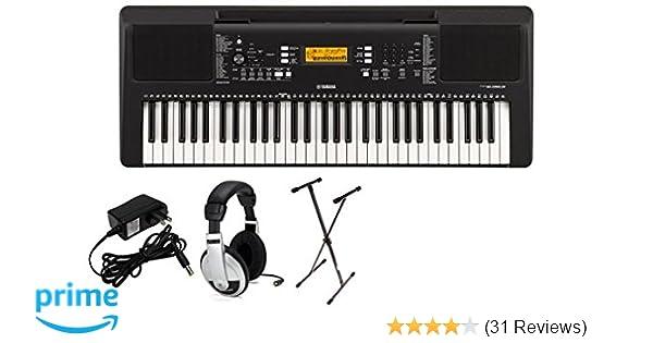 Amazon com: Yamaha PSRE363 Premium Keyboard Package with