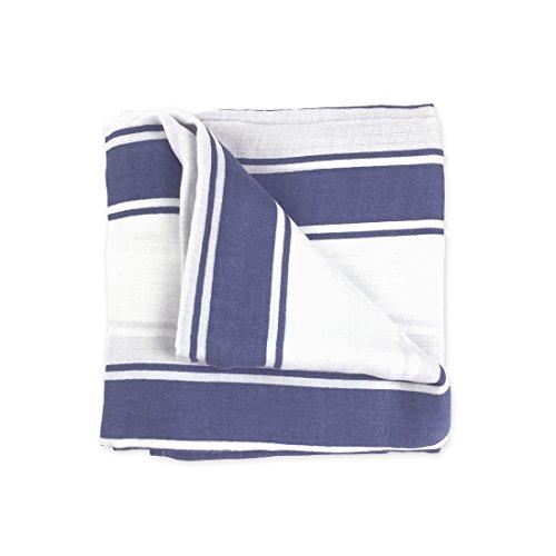 Carter/'s Baby Light Blue White Stars Cotton Swaddle Blanket Lightweight Unisex