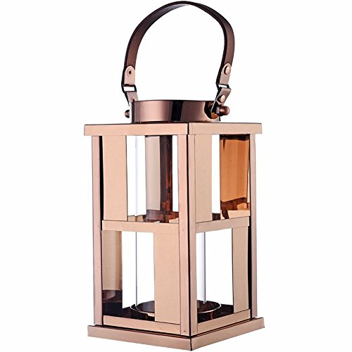 Lantern Elegant Metal Candle Gold Classic Lanterns Great for Patio, Indoors,Outdoors, Events, Parties and Weddings. (Classic Candle Lamp)