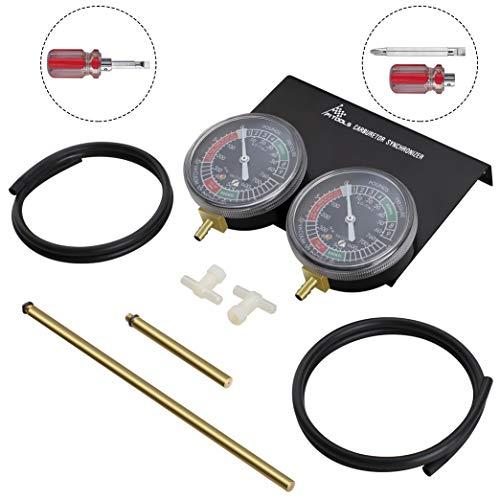 P1 Tools Motorcycle Vacuum Carburetor Synchronizer Carb Sync Gauge 2 Cylinder