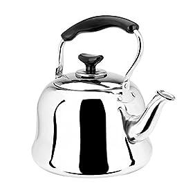AMFOCUS Stainless Steel Whistle Tea Kettle for Stovetop, 1 Liter