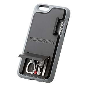 Swiss+Tech ST50242 Black iPhone 6 Mobile Smartphone Multitool Case with Screwdrivers, Scissors, Pen, Tweezers