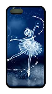 Beautiful Ballet Dancer Theme Case for IPhone 6 plus 5.5 for kids Rubber Material Black