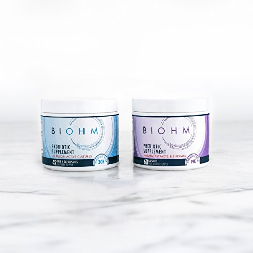BIOHM Duo: Probiotic Plus Prebiotic. HSA Eligible. Fuel Your Probiotics. 2 Digestive Enzymes Plus 3 Strains of Good Bacteria and 1 Strain of Good Fungi. Combined For Optimal Gut Health
