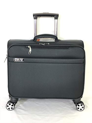 4 Wheel Drive Laptop Rolling Trolley 360 Spinner Travelling Suitcase Business Catalog Case (Grey)