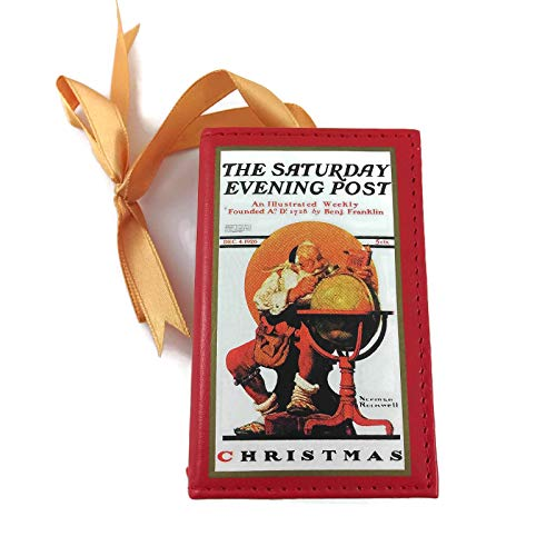 (Gold Label The Saturday Evening Post 1926 Cover Norman Rockwell Santa at The Globe Music Box Ornament)