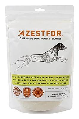 Dog Vitamins Supplements Raw and Homemade Dog Food Multivitamins Minerals Powder 1lb Veggie Flavor