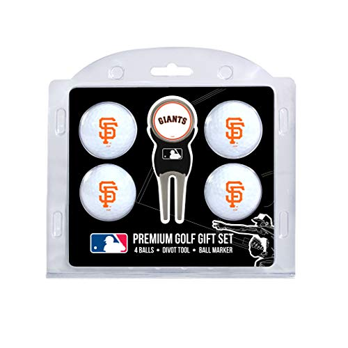 San Francisco Giants Golf Ball - Team Golf MLB San Francisco Giants Regulation Size Golf Balls (4 Count) & Divot Tool with Removable Double-Sided Magnetic Marker