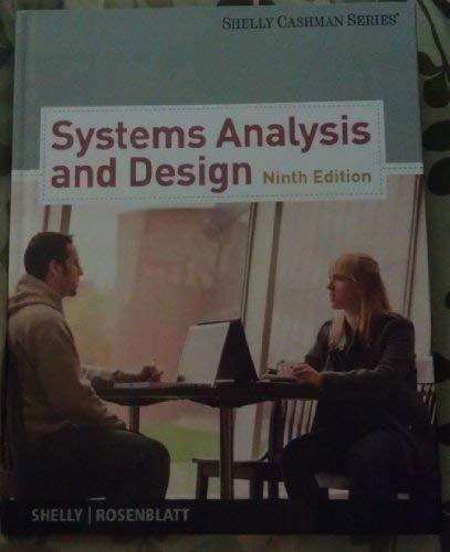 Analysis and Design for Systems - 9th International Edition