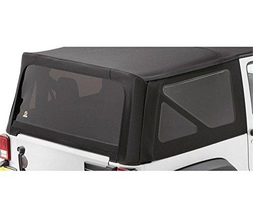 Bestop 58134-35 Black Diamond Tinted Window Kit Sailcloth Replace-A-Top for 2011-2018 Wrangler JK - Tinted Diamond Kit Window