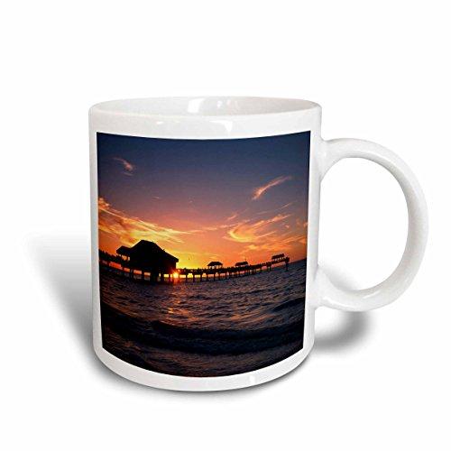 3dRose Clearwater Beach and Pier at Sunset, Florida, USA - Us10 Aje0290 - Adam Jones - Ceramic Mug, 11-Ounce (Mugs Clearwater)
