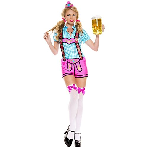 Lederhosen Beer Babe Costume - X-Small - Dress Size 0-2