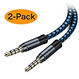 AUX Cable, [5ft / 2 Pack- Copper Shell, Hi-Fi Sound] 3.5mm Auxiliary Audio Cable Nylon Braided Aux Cord Compatible...