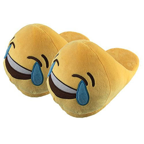 Scarpe Home Pantofole Tipo Peluche Inverno Pattini Morbido Letto Donna Rcool c Casa Da Antiscivolo Yellow Uomo Emoji In Unisex Camera 3 Caldo Cotone qzxX5qRw