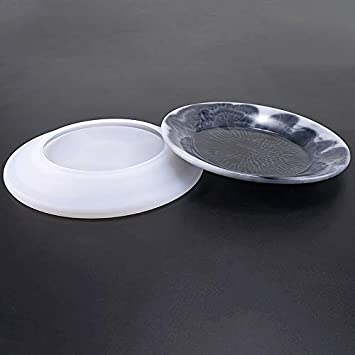 Yalulu DIY Silicone Jewelry Resin Mold Dishes Plate Model Making Casting Mold Jewelry Craft Mould Tool Oval