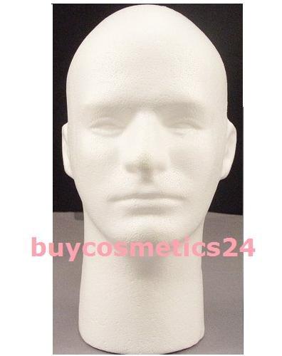 Male Mannequin White Styrofoam Head by foam (Best Army Universe Headbands)