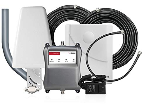 weBoost Connect 4G-X 471104 Cell Phone Signal Booster, Surge Protection Bundle, for Home/Office, Includes 4G High Performance Antenna, J-Mount, and Lightning Arrestor. Boosts 4G/LTE/3G