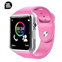 Reloj Celular Smartwatch MyTECH A Camara Bluetooth Pantalla Touch ranura chip MicroSD Compatible iOS/Android (Rosa)