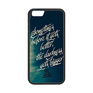 Wishing High Quality Customizable Durable Rubber Material Fall Out Boy FOB Lyrics Quotes iPhone 6 Back Cover Case 4.7""