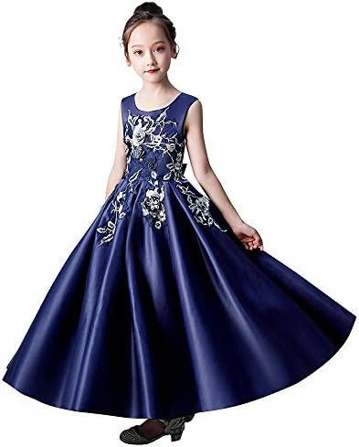 VJGOAL Vestidos de Princesa para niñas sin Mangas Bordado de ...