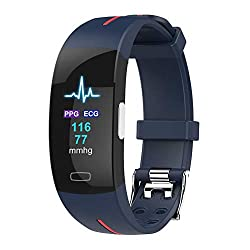 OOFAY Activity Waterproof Tracker, Fitness Trackers Pedometer Smart Watch Fitness Watch Sports Bracelet with Activity Recording and Calorie Counter,A